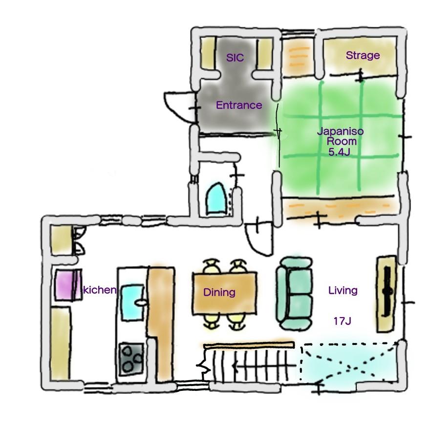 24坪間取り1階