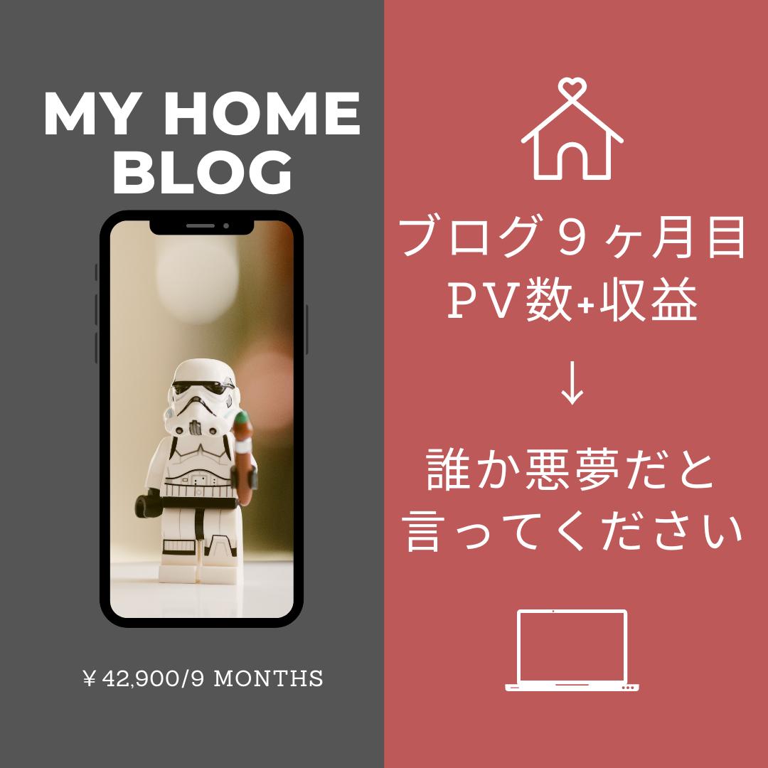 住宅ブログ9ヵ月目「誰か悪夢だと言ってくれ…」PV・収益激減